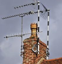 Aerials on a chimney